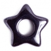 Hematite 12mm Star Pendant With 4mm Middle Hole